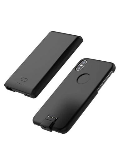 Jacobson iPhone X Kablosuz Manyetik Telefon Kılıflı Powerbank Siyah